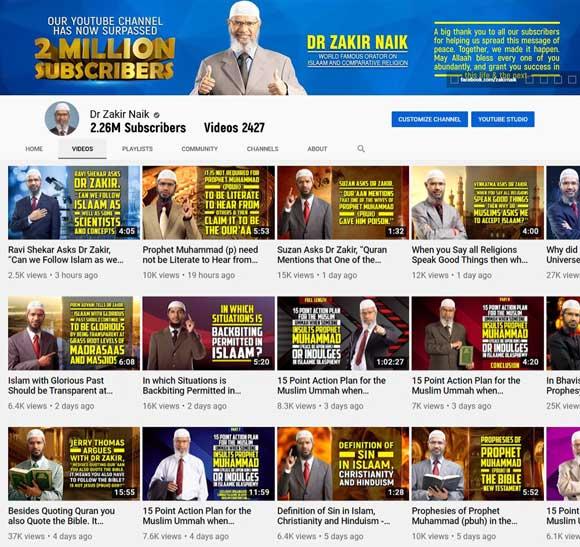 Dr Zakir Naik Youtube