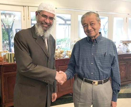 Dr Zakir Naik in discussion with Tun Dr Mahathir Bin Mohamad