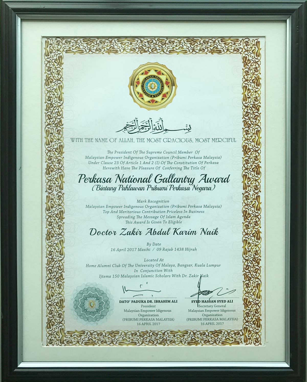 Perkasa National Gallantry Award