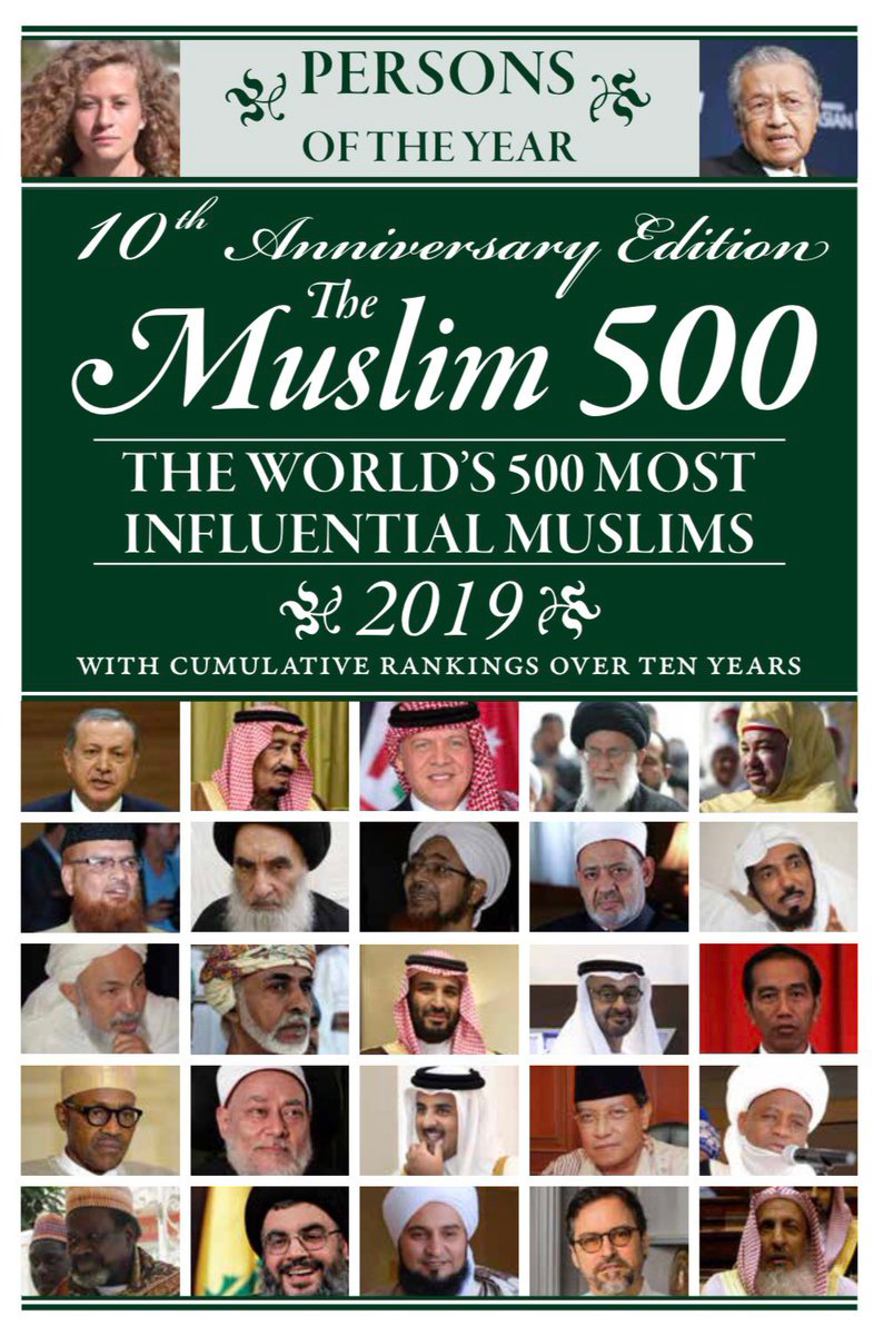 Listed in 'The Top 100 Cumulative Influence over 10 years' in 'The 500 Most Influential Muslims'