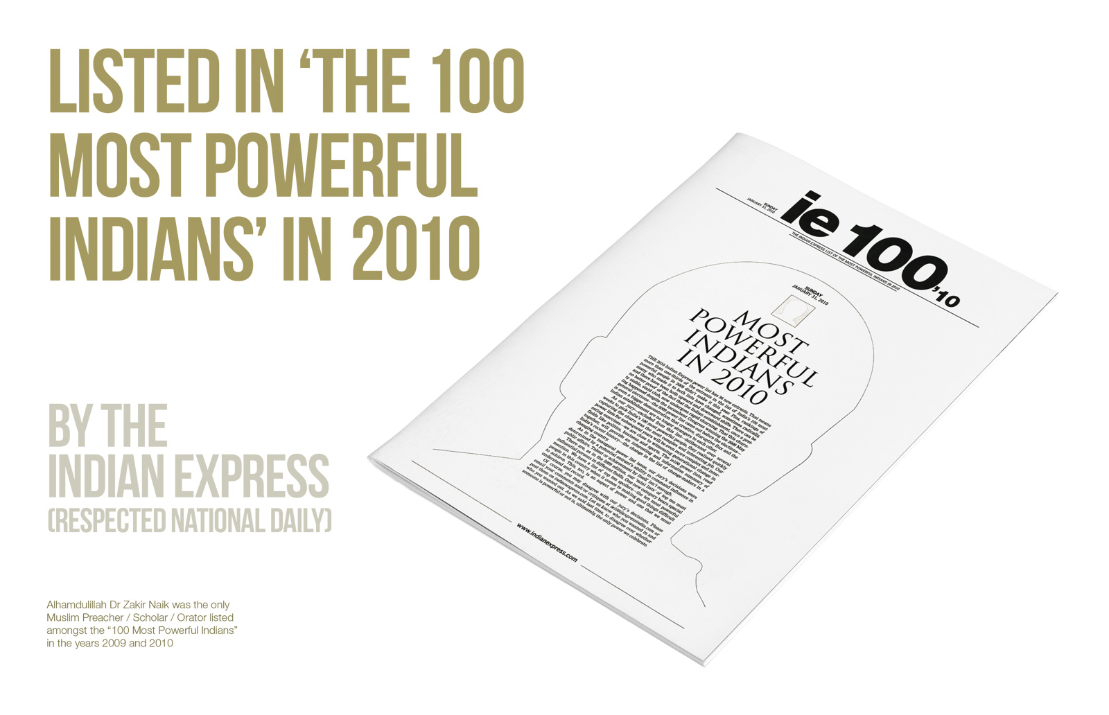 Listed in 'The 100 Most Powerful Indians' – 2010