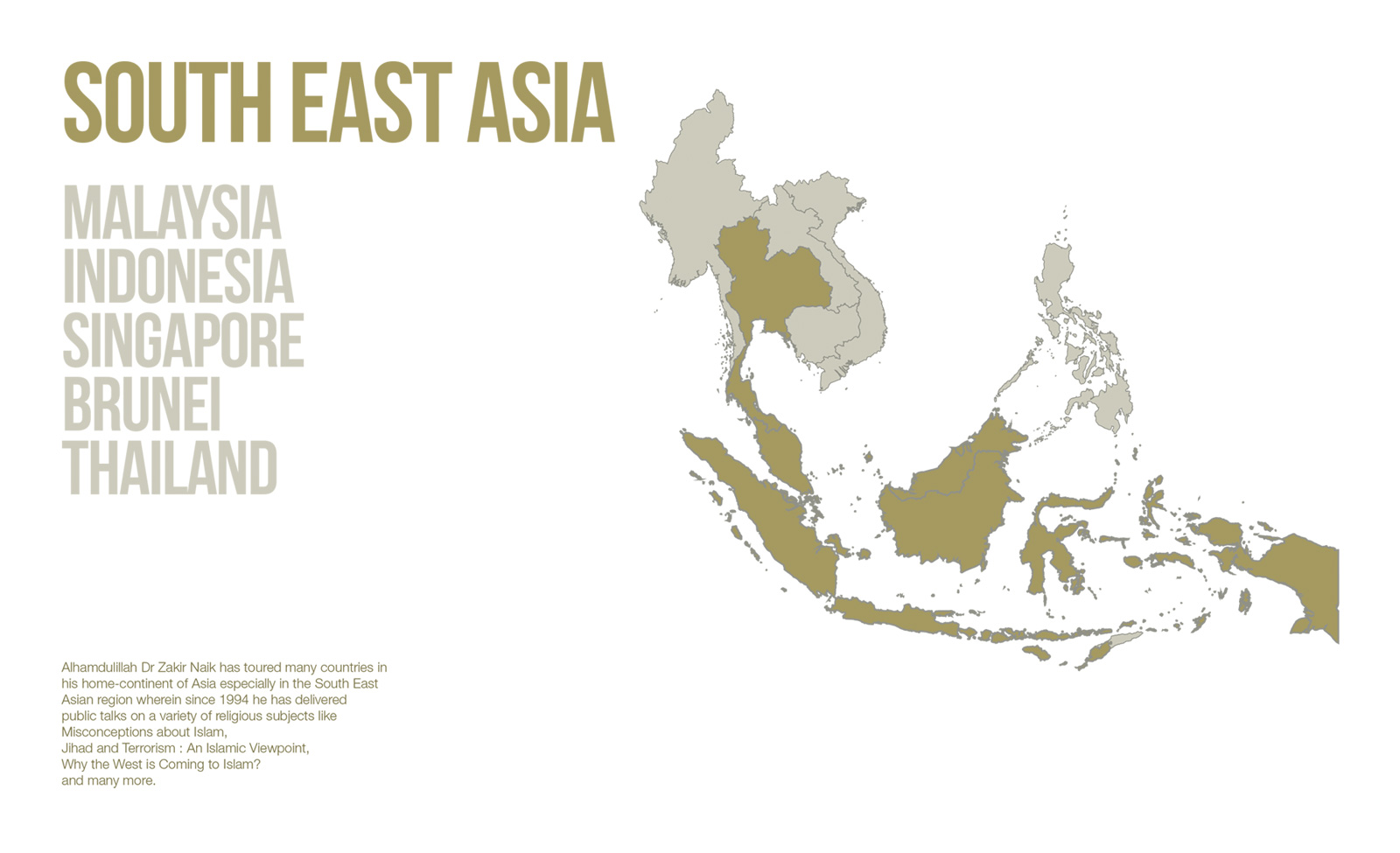 Public Lectures - South East Asia