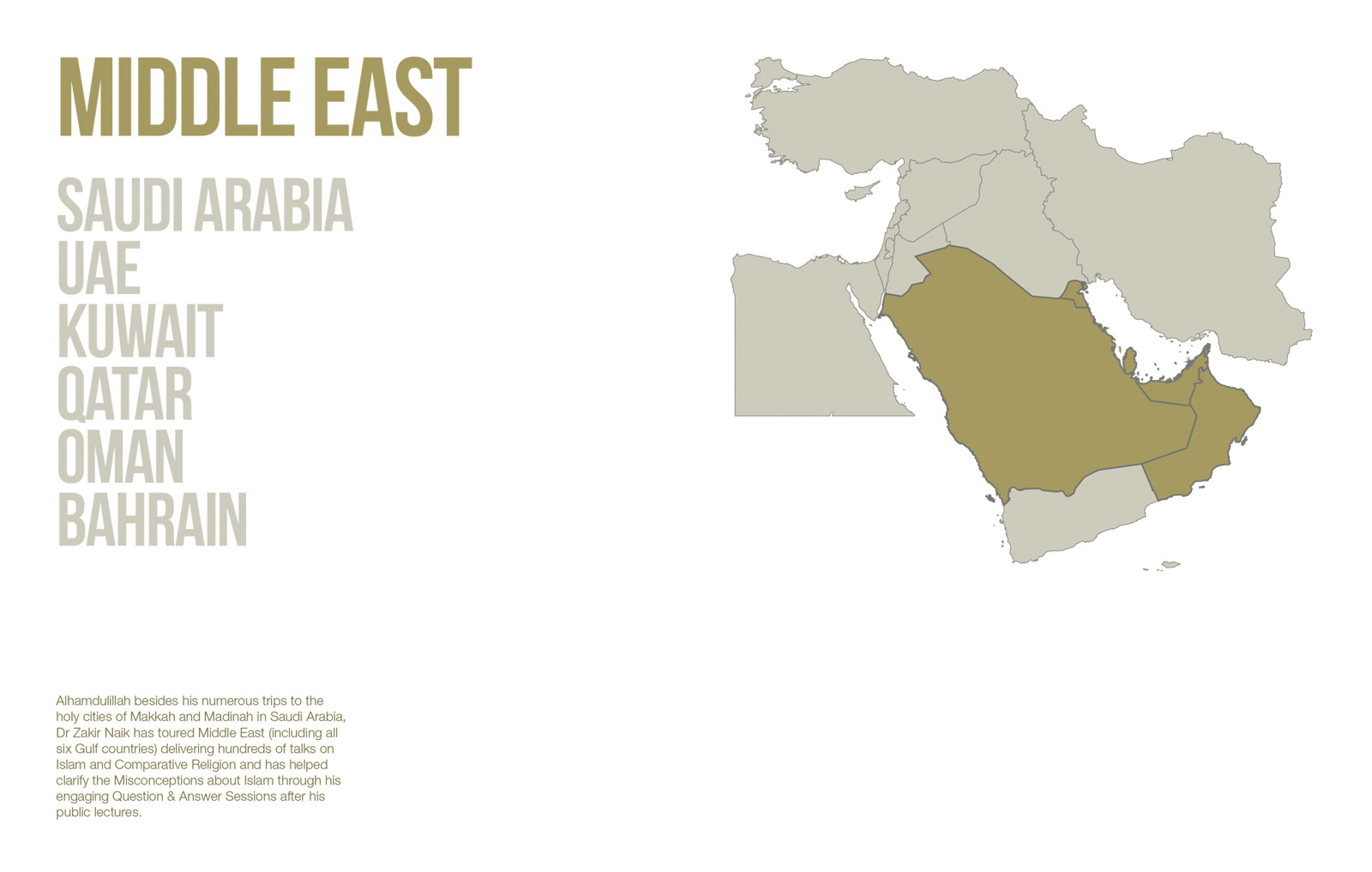 Public Lectures - Middle East