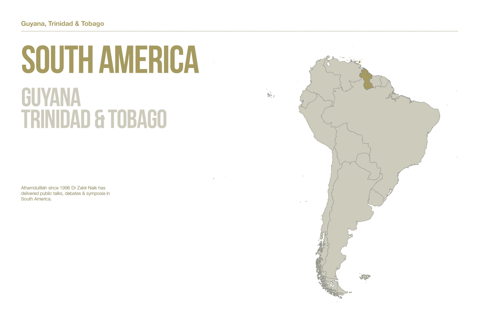 Public Lectures - South America
